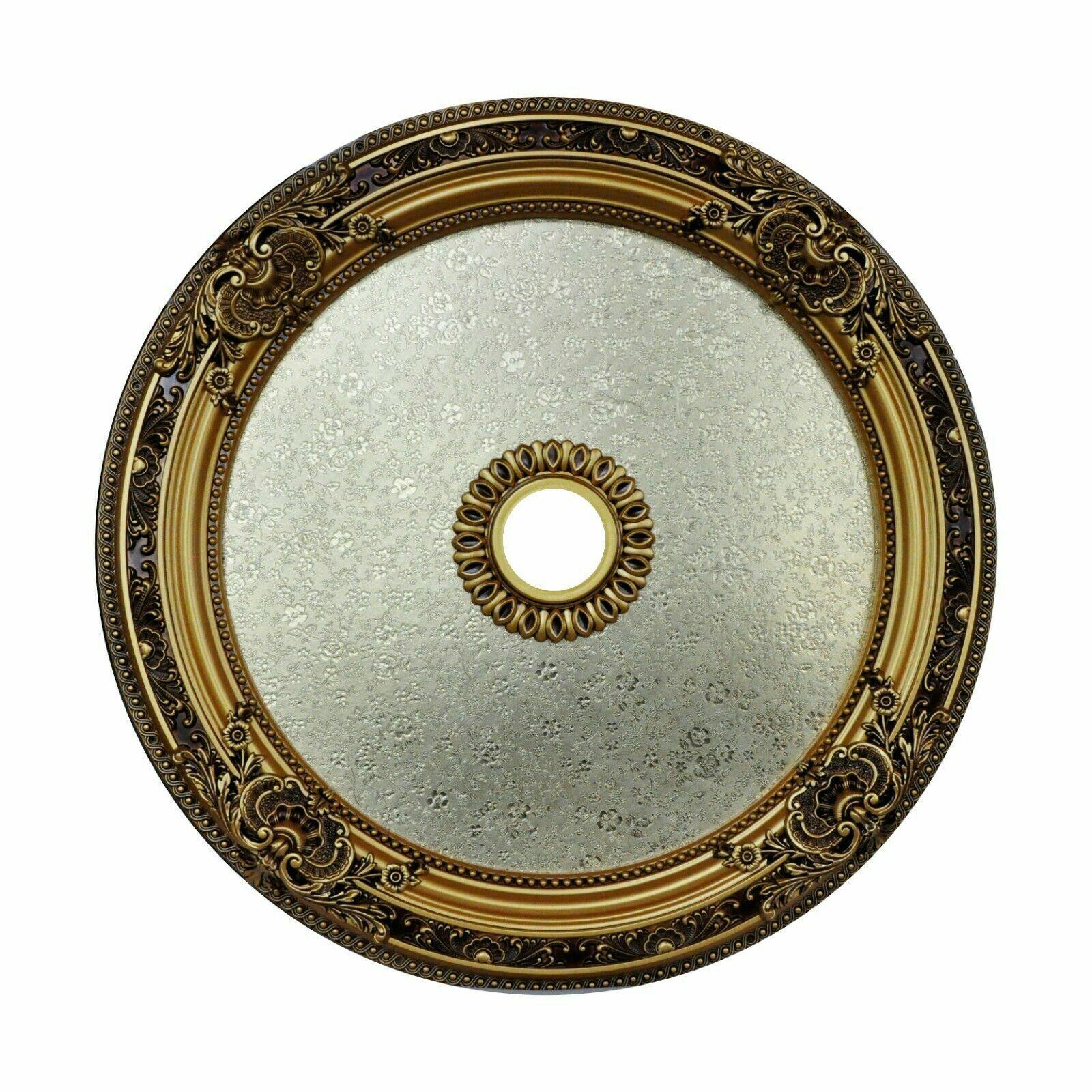 36 Round Chandelier Ceiling Medallion Gold Floral Foyer Dining Room Bedroom Ebay