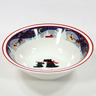 Noritake TWAS THE NIGHT BEFORE CHRISTMAS 12oz Soup Cereal Bowl 8100 Scottie Dog