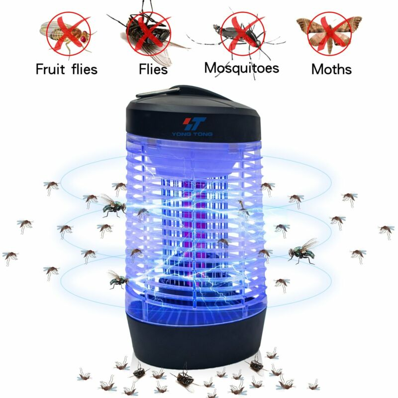 Electric UV U-Shape Bulb Fly Mosquito Insect Killer Bug Zapper Trap Pest Control