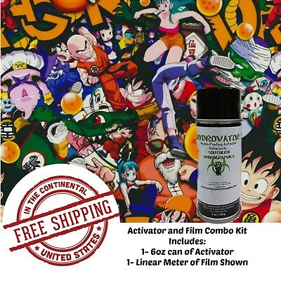 Hydrographic Water Transfer Hydro Dip 6 Oz Activator 1m Anime Bomb Film Dip Kit