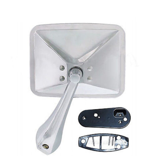 70 71 72 Chevy Truck Square Rectangle Chrome Outside Rear View LH Door Mirror