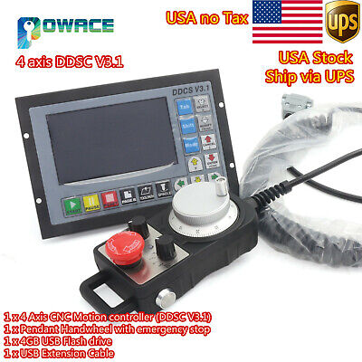 Usa4 Axis Motion Controller Offline 500khz Cnc Standalone Controllerhandwheel