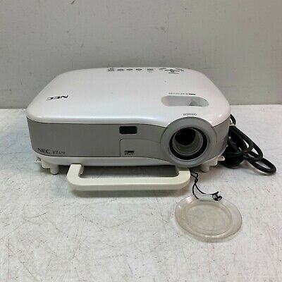 NEC VT670 LCD Multimedia Home Theater Projector *Tested Working* 1600 lamp hrs