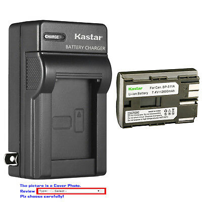 Kastar Battery Wall Charger for Canon BP-511 BP511A BP-508 BP-512A BP-522 BP-535