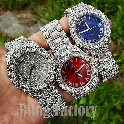 Migos Iced Rapper's Lab Diamond Metal Band Dress Clubbing wrist Luxury Watch