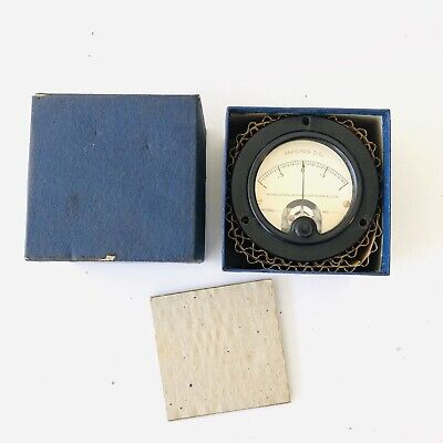 Weston Ammeter Dc Gauge Model 301 10 Amps Range Flush 3 12 Vintage Nos Htf