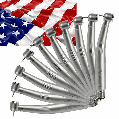 10x Dental E-generator Led Fiber Optic High Speed Handpiece 4 Hole Midwest L4b