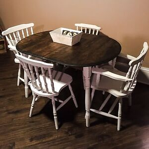 Refinished Distressed Dining Set