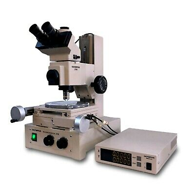 Olympus Stm Trinocular Tool Makers Inspection Xy Measuring Microscope 100x