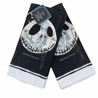 Disney Tim Burton's THE NIGHTMARE BEFORE CHRISTMAS 2-Pack Kitchen Towels * NEW *