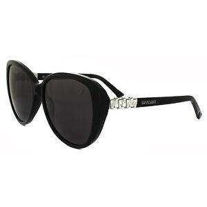 Swarovski Sunglasses SK0029 01A Shiny Black Grey
