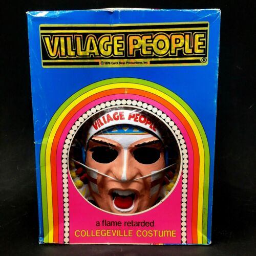 1970s The Village People Collegeville Costume Mask Ben Cooper - Vintage - Rare