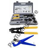 """PEX Crimp Tool Kit w/ Decrimper and Cutter -all sizes 1/2"""", 5/8"""", 3/4"""", 1"""""""