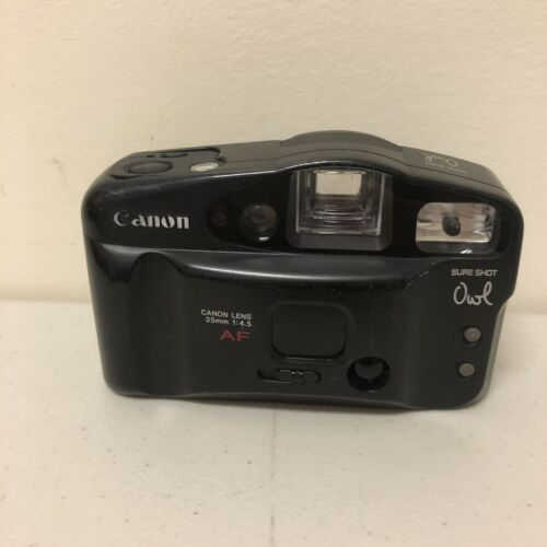 Used Vintage Canon Sure Shot Owl Date - 35mm 1 4.5 Point Shoot /F3 - $16.99