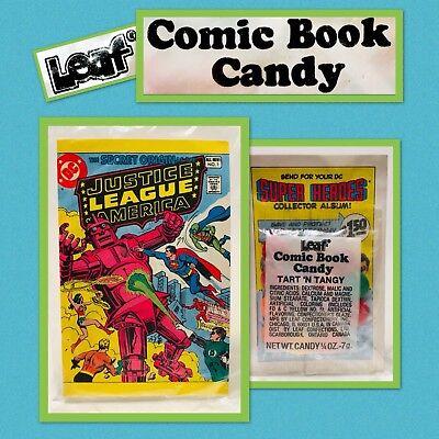 Vintage 1981 Leaf JUSTICE LEAGUE Comic Book Candy Pack bubble gum container