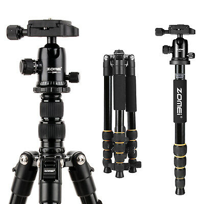ZOMEI Q666 Pro Portable Aluminium Camera Tripod Ball Head Travel for DSLR Camera