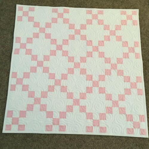 Handmade Baby or Toddler Quilt-Pink Irish Chain