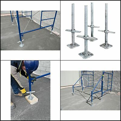 Metaltech 24 In. Adjustable Galvanized Scaffolding Leveling Jack 4-pack