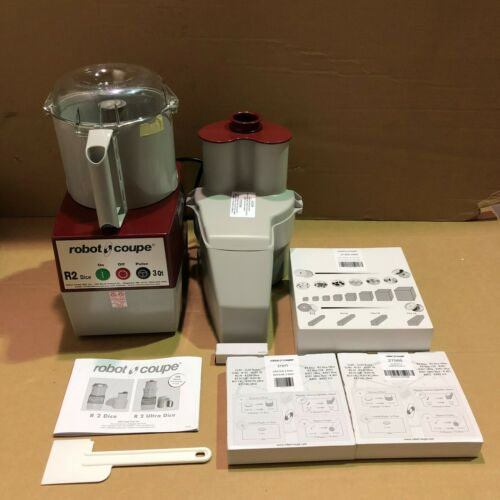 Robot Coupe R 2 Dice Continuous Feed Combination Food Processor 3 Quart