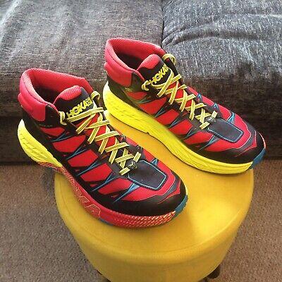 HOKA ONE ONE SPEEDGOAT MID WP - Mens - Uk Size 10 - Red/Black/Yellow - Running