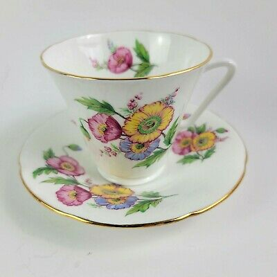 Vintage Teacup and Saucer Crown Imperial Czecho-Solvakia On Sale Was 15.50