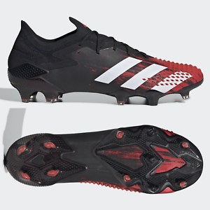 adidas Predator Mutator 20.1 L Low FG Mens Football Boots Black Red SIZE 8 9 10