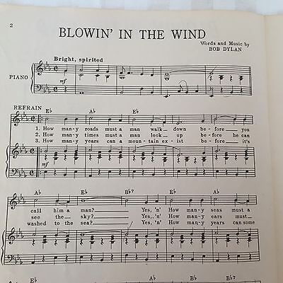 Blowin in the Wind Bob Dylan The Chad Mitchell Trio Sheet Music (Blowin In The Wind Piano Sheet Music)