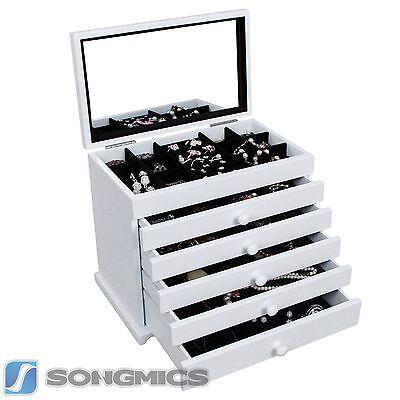 Songmics XL Schmuckkasten Kosmetik Organizer Ordnungsständer mit Spiegel JBC55W