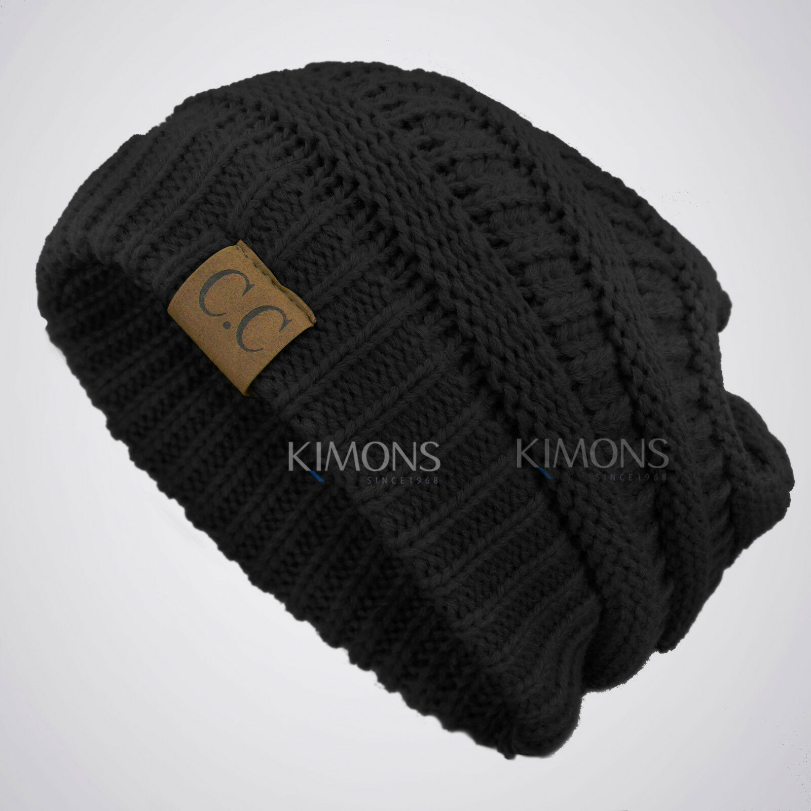 1825102c4d4 Bubble Knit Slouchy CC Baggy Beanie Oversize Winter Hat Ski Cap Skull Women
