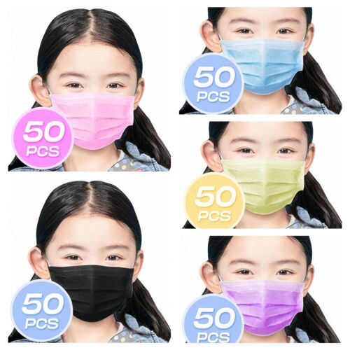 ❤kid/child❤50pcs❤3ply Layer Disposable Face Mask Dust Filter Protection Cover