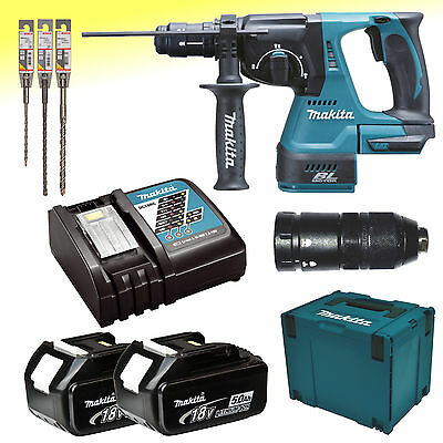 makita akku kombihammer 18v 5 0ah f sds dhr243rtj. Black Bedroom Furniture Sets. Home Design Ideas