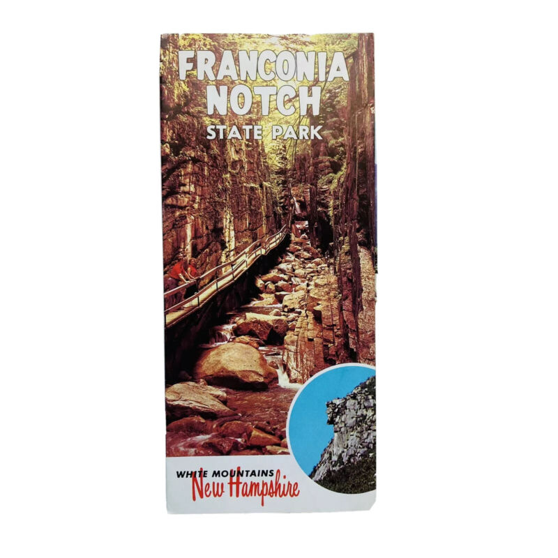 Vintage Franconia Notch State Park Travel Brochure White Mountains New Hampshire