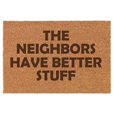 Coir Door Mat Entry Doormat The Neighbors Have Better Stuff