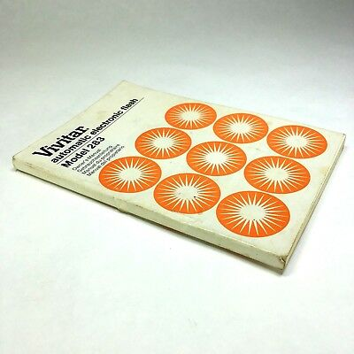 Vintage VIVITAR Automatic Electronic Flash Model 283 Owner's Manual