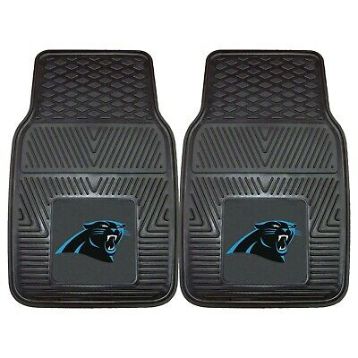 Fanmats NFL Carolina Panthers Car Truck 2 Front Heavy Duty Rubber Floor Mats