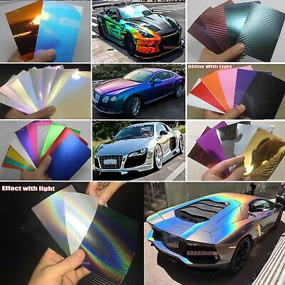 - Sample Magic Glossy Mirror 4D 5D Pearl Metal Satin Chrome Vinyl Wrap Sticker US