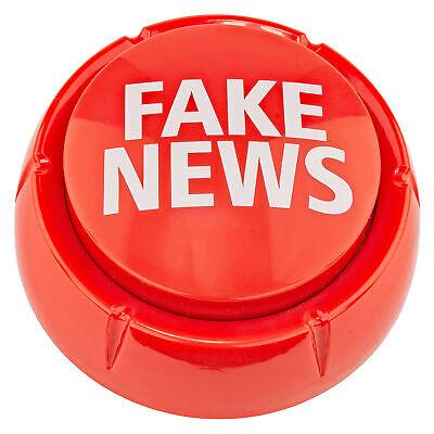 Donald Trump Fake News Sound Button Desk Gag Novelty Joke White Elephant Gift Collectibles