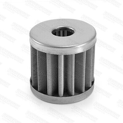 High flow metal inline fuel filter replacement micron element