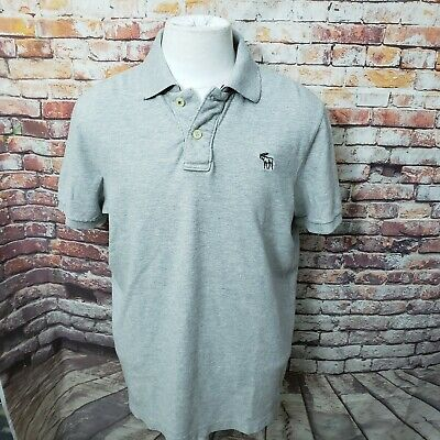 ABERCROMBIE DESTROYED COTTON MUSCLE FIT MESH POLO SHIRT SIZE XXL B01-06