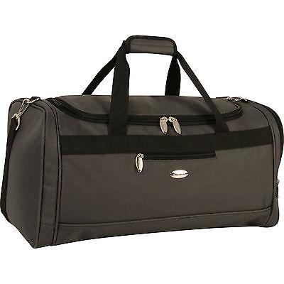 "TRAVEL GEAR SPECTRUM II  GRAY BLACK 22""  DUFFLE BAG LUGGAGE - $120 VALUE"