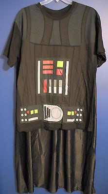 New Walt Disney Parks Star Wars DARTH VADER Costume T-Shirt & Cape Mens XL
