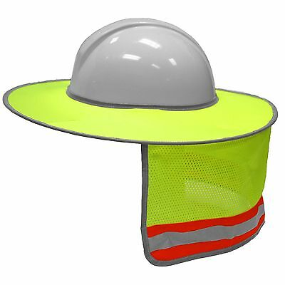 Mlk Full Brim Hard Hat Sun Shield Neck Shade Green