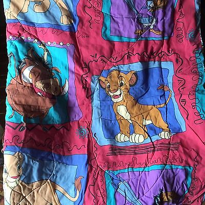 Vintage Disney THE LION KING Twin Comforter Bed Bedding Simba Pumba Nala 62 x 86