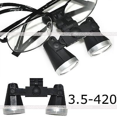3.5 X 420 Dental Loupes Dentist Surgical Medical Binocular Optical Glasses 420mm