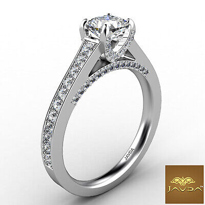 Cathedral Micro Pave Setting Cushion Diamond Engagement Ring GIA E VS1 1.47 Ct 2