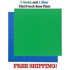 4 Pcs Green 10x10 inch 32x32 stud Classic Brick Building Base for Lego.