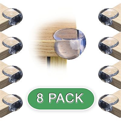 8 Pack Child Safety Corner Guards, Table Corner Protectors, Clear Bumper Guards