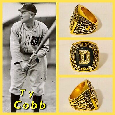 Detroit Tigers Ty Cobb Hall Of Fame Induction Ring Size 11 Hall Of Fame Ring