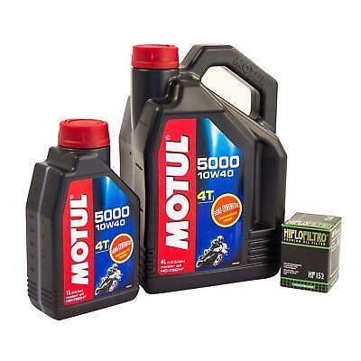 MOTUL 5000 10W40 OIL 5L  HIFLOW FILTER FOR TRIUMPH 2002 TIGER 955I HF