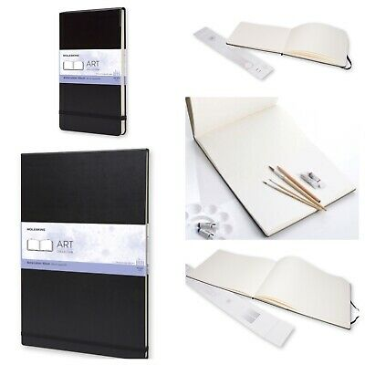 "LOT OF 2!!! - Moleskine Watercolour Albums - 8 1/4 x 5"" & A3 16 1/2 x 11 3/4"""